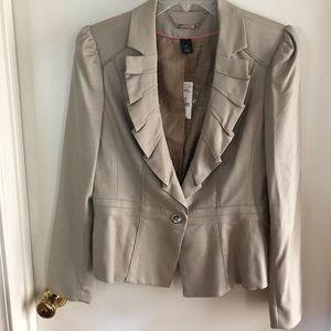 White House Black Market tan blazer